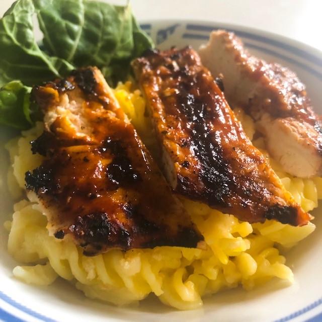 Gluten Free BBQ Chicken Mac n Cheese