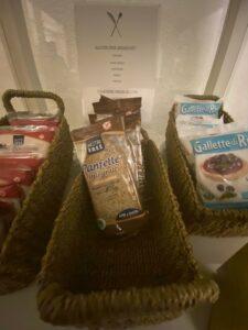 gluten free at adriano hotel